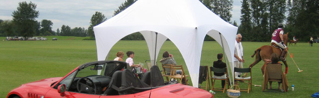 pop up canopy tent at outdoor event