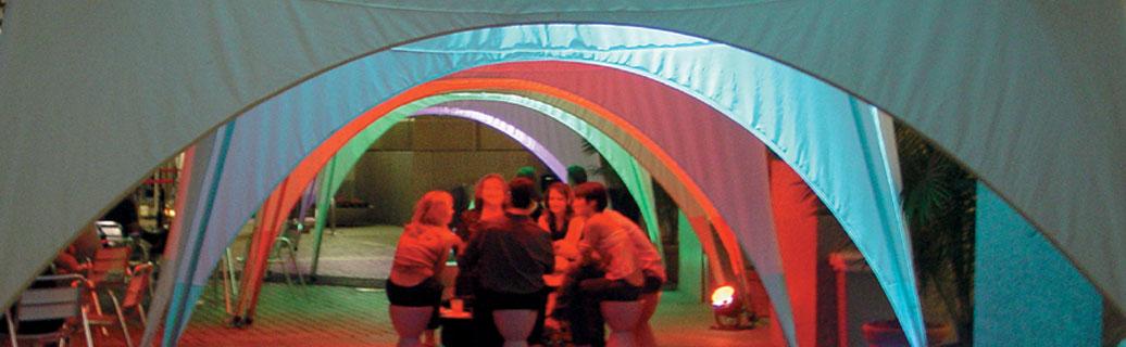 inside a pop up canopy tent