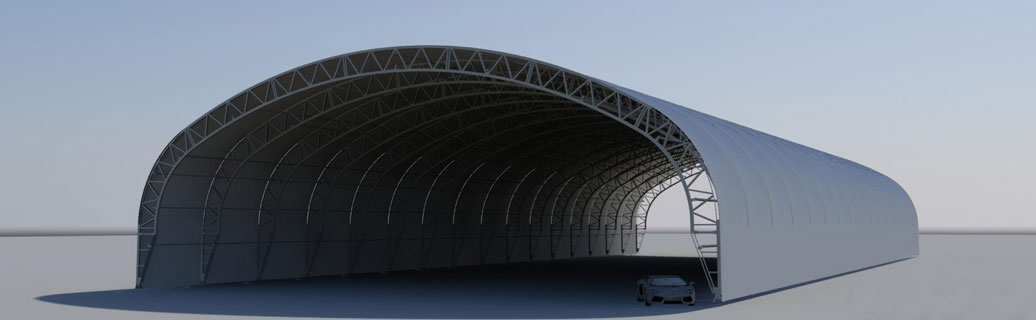 large permanent fabric structure