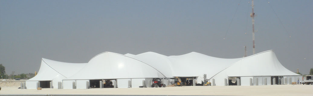 fabric structure at outdoor event