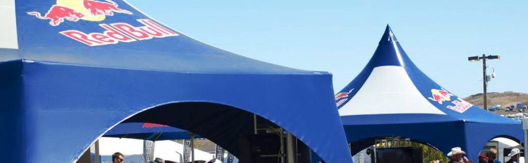 custom logo tent for Red Bull