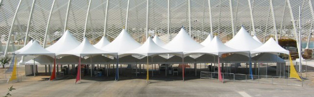 marquee canopy tents at commercial event