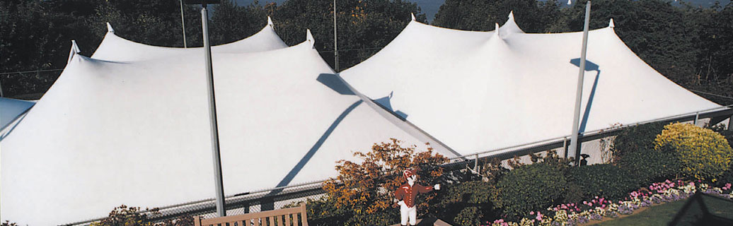 Mega canopy tents at corporate event