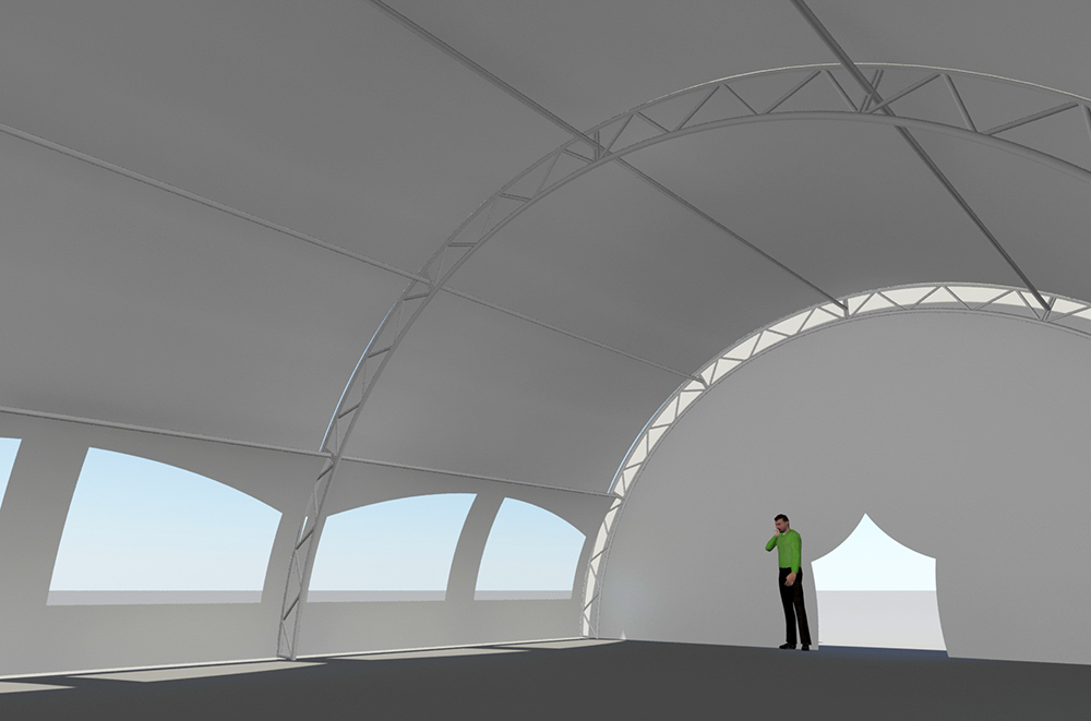 Tentnology Tentanium 36ftx40ft 20ftbay with gable & walls