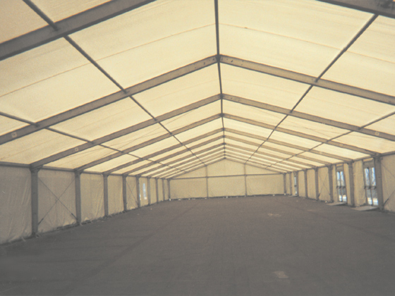 inside an emergency tent shelter