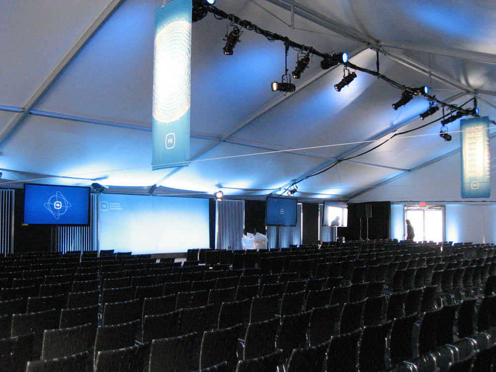Tspan 60x80 event tent | Facebook F8 Conference