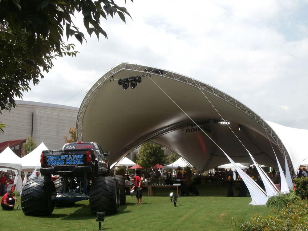 SaddleSpan S5000 TriSpan Event Tent | George P Johnson Toyota Event