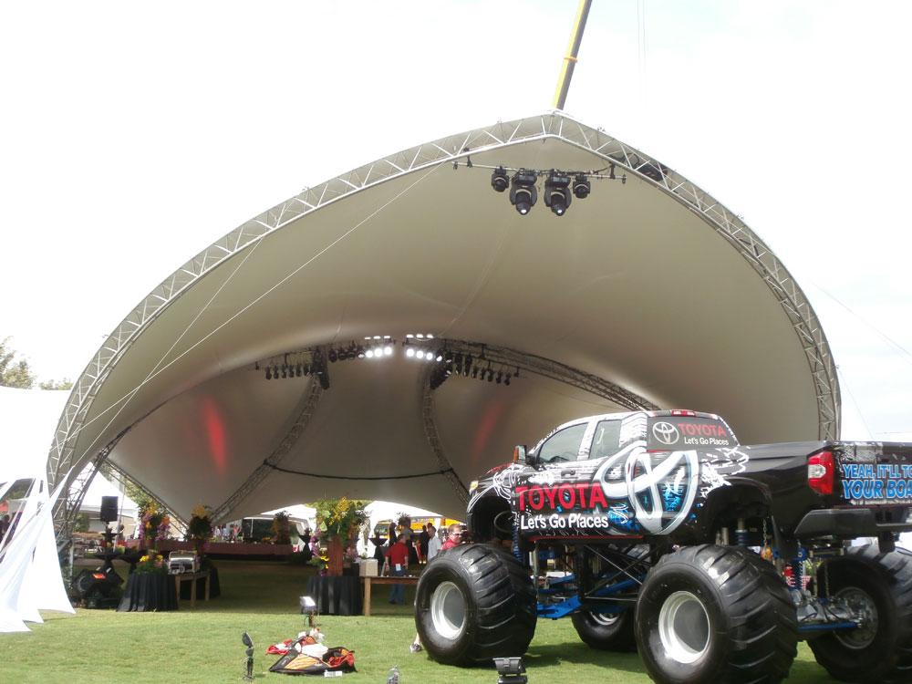 SaddleSpan Event Tent | George P Johnson Toyota Event