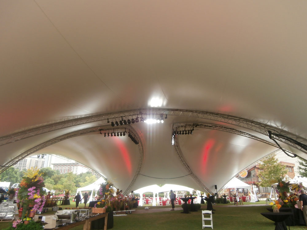 Inside SaddleSpan S5000 TriSpan Event Tent | George P Johnson Toyota Event