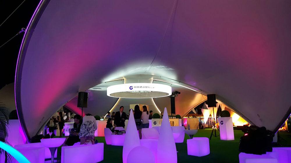 SaddleSpan S1000 TriSpan Event Tent | Hong Kong Wine & Dine Festival