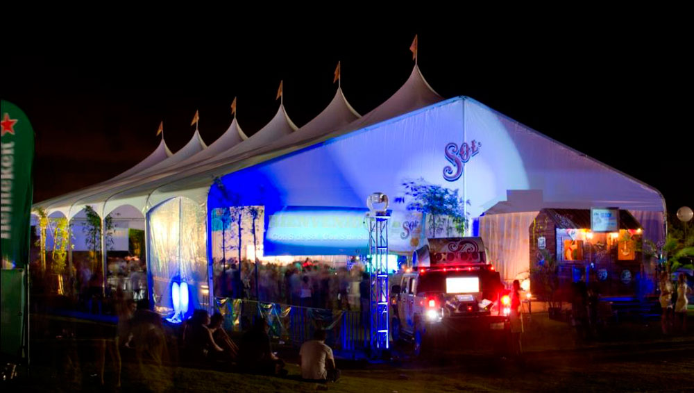 Tspan Large Event Tents | Sol Cancun Mexico