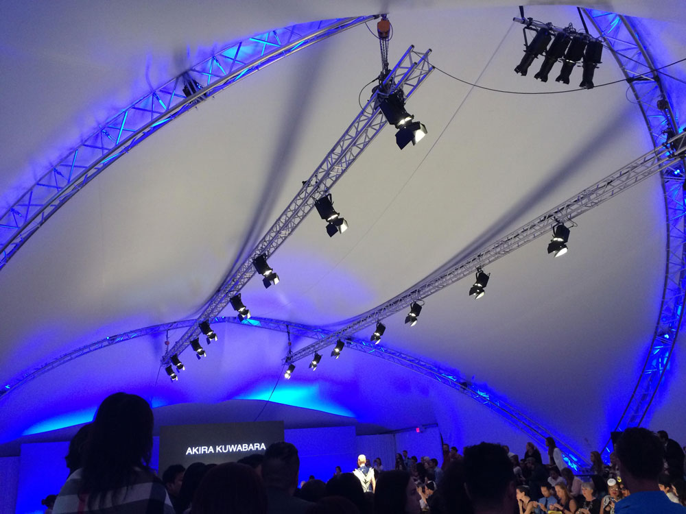 SaddleSpan S5000 Event Tent | Vancouver Fashion Week