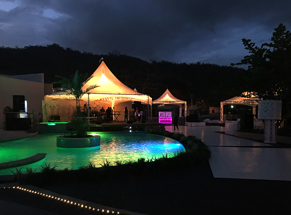 """Tentnology® MQ20, MQ40 Hex Frosted Top Matrix Marquees Photo Credit:<a target=""""_blank"""" href=""""http://www.partyandevent-tt.com/""""> Parties & Events Trinidad</a>"""