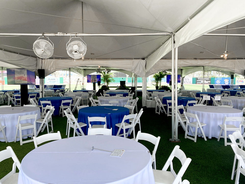 """Tentnology® MQ20x40 Interior with Gutters  & 4-Way Adapters