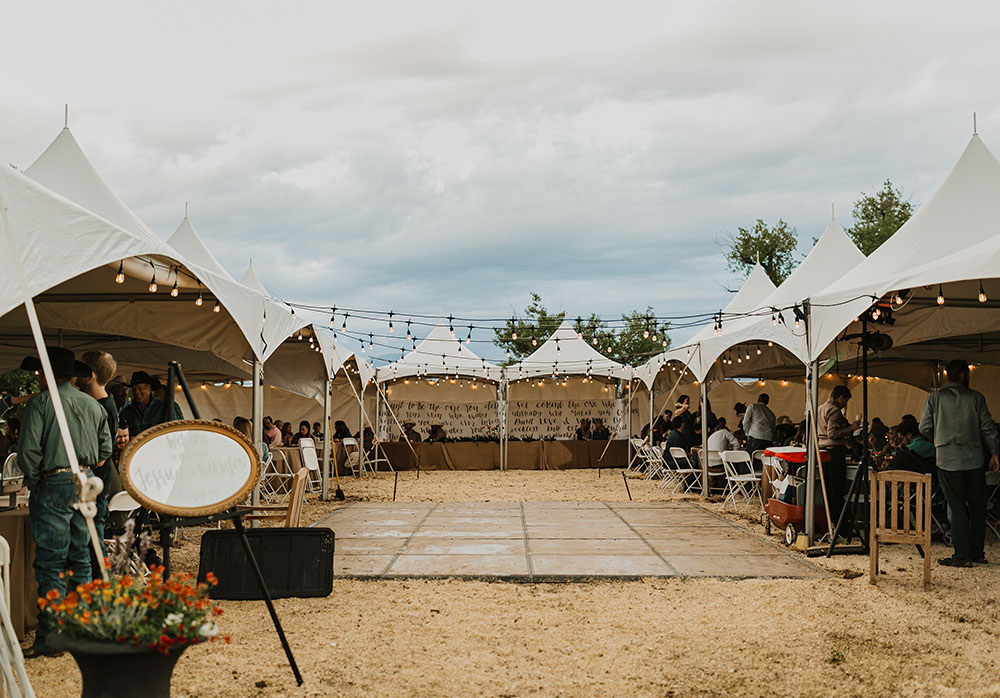 "Matrix–Marquee™ MQ20 Wedding  Tent | Photo Credit: <a href=""https://www.flexxproductions.com/"" target=""_blank"">Flexx Productions</a>"