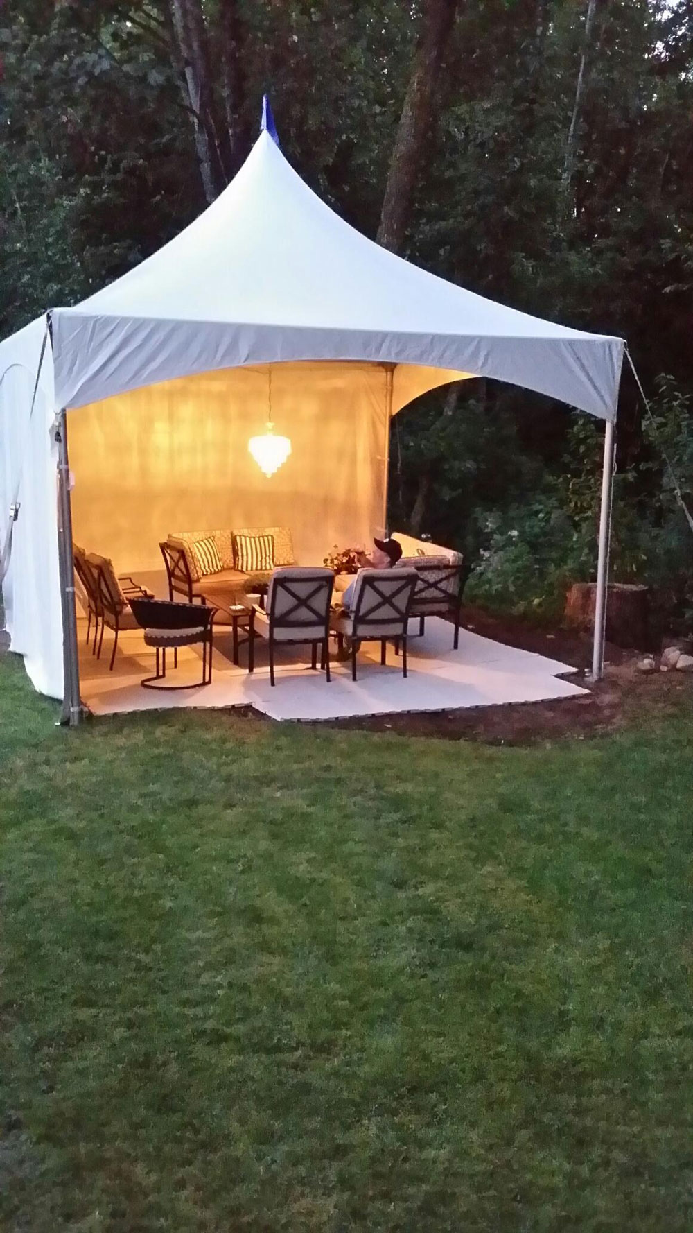 Backyard party canopy tent