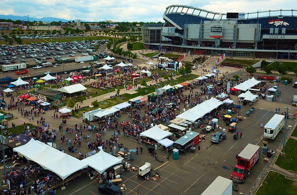 "Matrix–Marquee™ Tents | Denver Broncos Stadium | Photo Credit: <a href=""https://www.flexxproductions.com/"" target=""_blank"">Flexx Productions</a>"
