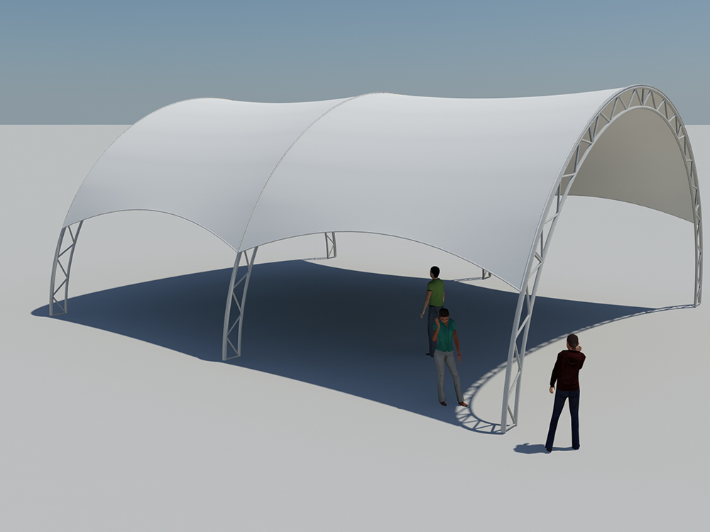 Tentnology Tentanium 36ft x 40ft 20ft bay