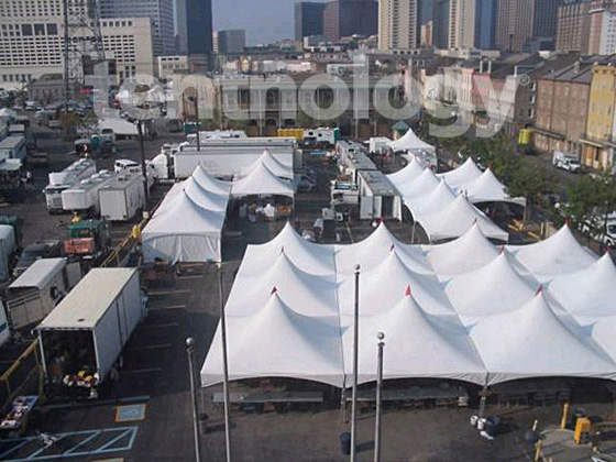 Aerial view of Emergency Tents