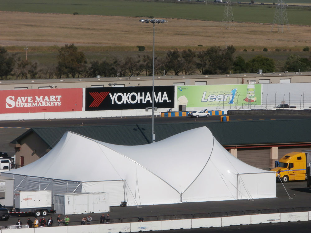 SaddleSpan S5000 Portico Cpmplete | Sonoma Raceway